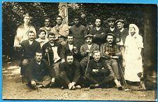 CPA PHOTO: Soldats et infirmière à l'hôpital 114 d'Orléans / Guerre 14-18 / 1915