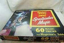 VINTAGE MAGIC TRICK KIT SET SIEGFRIED & ROY MARSHALL BRODIEN 60 TRICKS TABLE BOX