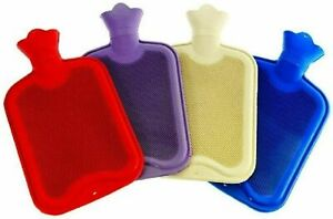 2 Litre 500ml Hot Water Bottle Natural Rubber Winter Warmer Small Large