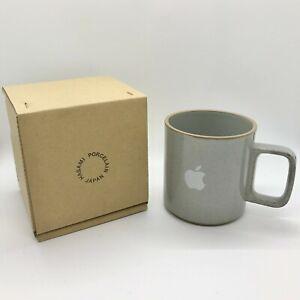 Apple HQ Logo Mug Hasami Porcelain Japan Gray in Box RARE