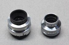 Bell & Howell Lumax 25mm f/1.9 & Wollensak 17mm f2.7 C-Mount Lenses BOTH FROZEN