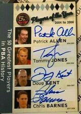 Patrick Allen, Tommy Jones Doug Kent Chris Barnes PBA quad autograph RITTENHOUSE