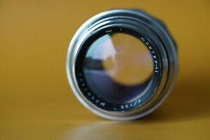 Jupiter 11 135mm lens for m39 cameras with lens caps early silver version