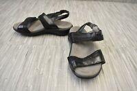 **SAS Nudu Leather Slingback Sandals, Women's Size 5WW, Black