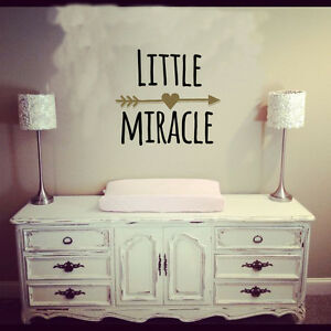 Little Miracle -Wall Decal  Baby Boy/Girl Room -Nursery Decor Wall Decal Sticker