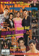 Faces Presents Twilight New Moon Fever Magazine Robert Pattinson Taylor Lautner