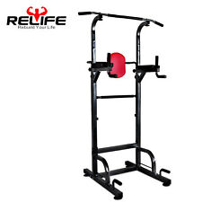 Relife Pull Up Power Tower Workout Dip Station for Home Gym Strength Training