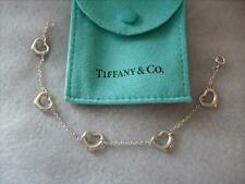 Tiffany & Co. Elsa Peretti Five Open Heart Silver Bracelet