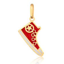 14k Solid Gold Enamel/Resin All Star Sneakers Pendant for Necklace for Women