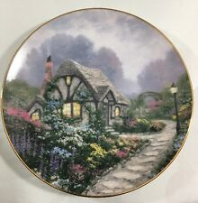 "Thomas Kinkade ""Chandler's Cottage"" collector plate by Knowles, 1991; 8 1/2"""