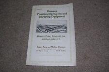 c.1916 Rumsey Sprayers/Spraying Equipment Catalog Pump & Machine