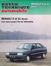 REVUE TECHNIQUE AUTOMOBILE RTA RENAULT 9 et 11 DIESEL - CIP 439.4