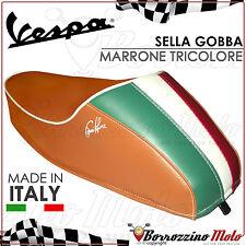 SELLA SELLINO GOBBA GOBBINO MARRONE/TRICOLORE ITALIA PER VESPA 50 SPECIAL R-L-N