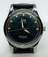 Vintage HMT Pilot Green Dial Mechanical Hand Winding 17J Men Wrist Watch  Q030