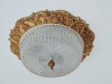 ANTIK STIL PLAFONIERE DECKENLAMPE METALL GLAS FRANKREICH FRENCH CEILING LAMP Ø36
