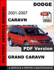 DODGE CARAVAN 2001 - 2007 OEM SERVICE REPAIR WORKSHOP MANUAL + WIRING DIAGRAM
