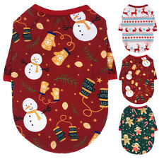 Dogs Christmas Clothes Costume Chihuahua Small Puppy T-shirt Vest Snowman Gift