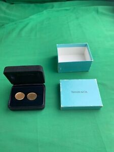 Tiffany & Co. 14K Yellow Gold 585 Oval Cuff Links