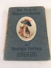 BEATRIX POTTER The Tale of Benjamin Bunny FIRST EDITION 1904