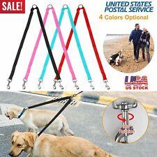 Double Dogs Leash Two Pet Dogs Metal Coupler Dog Walking Training Splitter Leash