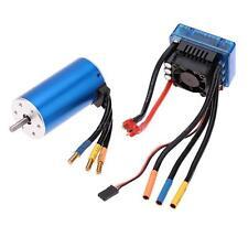 Genuine 3670 1900KV 4P Sensorless Motor + 120A Brushless ESC for RC Car P2B0