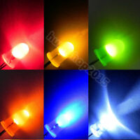 2 Pin 3mm 5mm Round LED Wide Angle Light Super Bright DIY Emitting Diode 100pcs