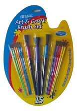 Bazic Art & Crafts 15 Paint Brush Set (Beginner's Set) 3411