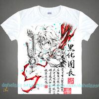 Anime The Seven Deadly Sins Casual Short Sleeve Unisex Otaku T-Shirt Tops #C46