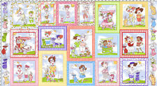 "Loralie Designs Fabric Panel - You Golf Girl Ladies Blocks 23"" Cotton"