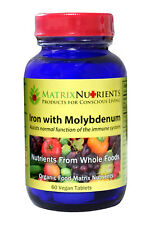Whole Food Organic Iron with Molybdenum Supplement by Matrix Nutrients