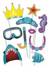 Under the Sea Photo Booth Props [10pc] Mermaid Beach Pool Party Supply Activity