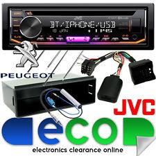 Peugeot 207 2006 JVC CD MP3 USB Bluetooth estéreo de coche & Kit Fascia Volante