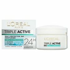 2 X L'OREAL TRIPLE ACTIVE DAY CREAM NORMAL & COMBINATION SKIN NEW 50ml each