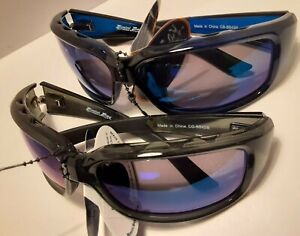 new 2 pairs Bimini Bay Sunglasses clear gray & blue frame  lense