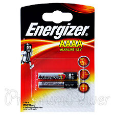 2 x Energizer AAAA batteries Alkaline 1.5V MX2500 E96 LR61 MN2500 Pack of 2