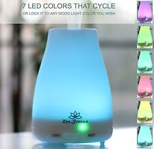 Zen Breeze, Aromatherapy Essential Oil Diffuser, Cool Mist Ultrasonic, LED Light
