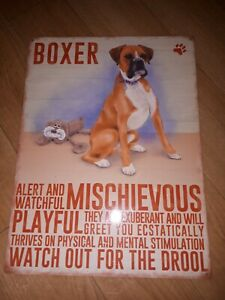 Boxer dog personality Metal Wall Sign