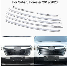 Chrome Front Central Grille Cover Molding Trims For Subaru Forester 2019-2020