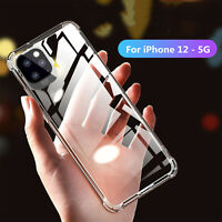 For iPhone 12 Pro 12 Mini 12Pro Max Ultra Slim Silicone Clear Phone Case Cover