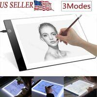 A4 LED Drawing Tracing Table Display Light Box Pad Artist Stencil Board Tattoo