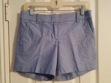 "J Crew Women Light Blue Shorts Size 2 Soft Cotton Chambray 5"" Inseam City Fit"