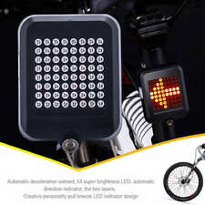 Bicycle LED Tail Light Turn Signal Rear Brake Sensor Lamp USB Rechargeable  GT