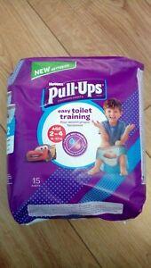 New Huggies Pull Ups. Training Pants. Age 2-4. 18-23kg. Disney Cars. X15 Pants