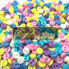 200 6mm TINY RESIN BUTTONS CRAFT SCRAPBOOK SEW CARDS EMBELLISHMENT