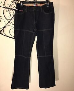 Tommy Girl Hilfiger Jeans Womens 9 Vintage 90s Bell Bottom Zipper Denim Jeans