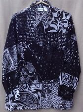 CHICO'S 100% SILK Sheer Floral & Paisley Print Tunic Blouse Shirt Top 2 L Large