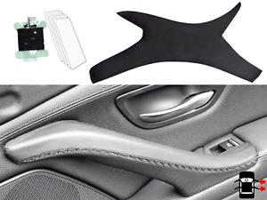 BMW 5 Series F10 F11 Interior Door Handle Cover Genuine Black Leather RIGHT