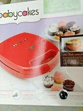 Babycakes Cupcake Muffin Maker Red Non Stick Coating Baking Machine Model CC96RD