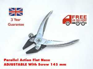 PARALLEL ACTION FLAT NOSE PLIERS ADJUSTABLE SMOOTH JAWS CRAFTS JEWELLERY WATCH