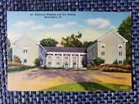 1940s Historical Museum Art Gallery Bennington Vermont VT Linen Postcard